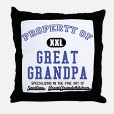 Property of Great Grandpa Throw Pillow