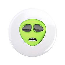 "Scared Alien Face 3.5"" Button"