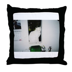Baby The White Cat Throw Pillow