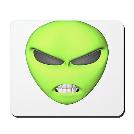 Mean Alien Face Mousepad