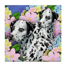 DALMATIAN DOGS GARDEN Tile Coaster