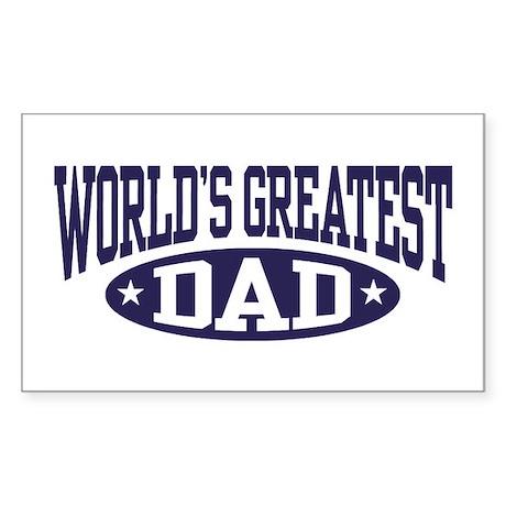 World's Greatest Dad Rectangle Sticker