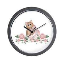 Everything's Rosy Kitty Cat Wall Clock