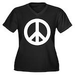 Peace / CND Women's Plus Size V-Neck Dark T-Shirt
