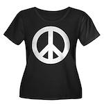 Peace / CND Women's Plus Size Scoop Neck Dark T-Sh