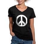 Peace / CND Women's V-Neck Dark T-Shirt