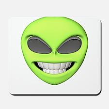 Cheesy Smile Alien Face Mousepad