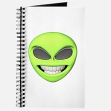 Cheesy Smile Alien Face Journal