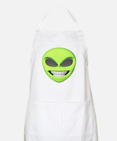 Cheesy Smile Alien Face BBQ Apron