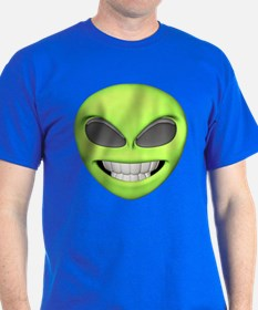 Cheesy Smile Alien Face T-Shirt