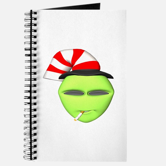 Smoking Alien with Hat Journal