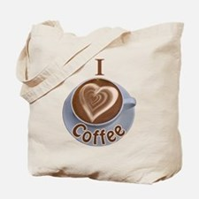 I Heart Coffee Tote Bag
