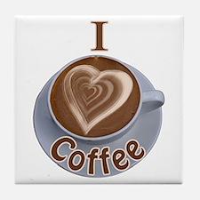 I Heart Coffee Tile Coaster