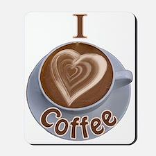 I Heart Coffee Mousepad