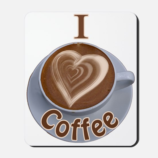 I Heart Coffee Mousepad