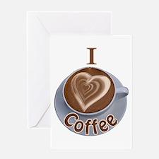 I Heart Coffee Greeting Card