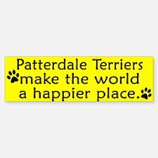 Happy Place Patterdale Terrier Bumper Bumper Bumper Sticker
