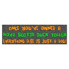 Just a Dog Nova Scotia Duck Toller Bumper Bumper Bumper Sticker