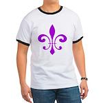 Fleur De Lis Purple Ringer T
