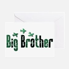 Green Airplanes Big Brother Greeting Card