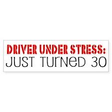 30th Birthday Bumper Car Sticker