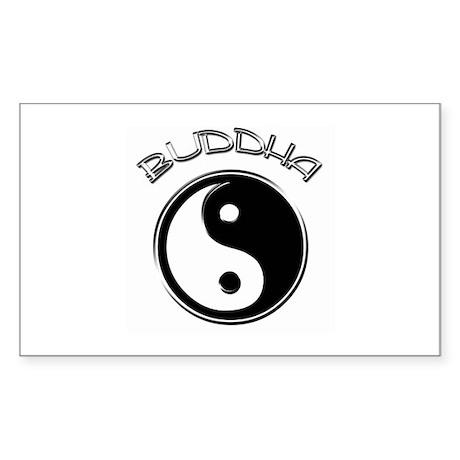 Buddha Ying Yang Rectangle Sticker