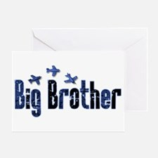 Blue Airplanes Big Brother Greeting Card