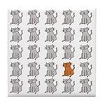 One Special Orange Kitty Tile Coaster