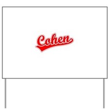 Retro Cohen (Red) Yard Sign