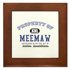 Property of Meemaw Framed Tile