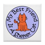 My Best Friend is a Shelter C Tile Coaster