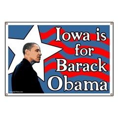 Iowa is for Barack Obama '08 Banner