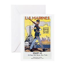 WWI U.S. Marines Greeting Card