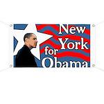 New York for Obama 2008 Banner