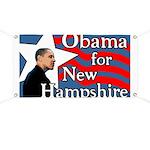 New Hampshire Barack Obama Banner