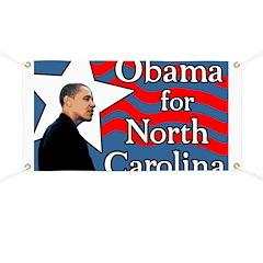 North Carolina Barack Obama Banner