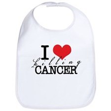 i heart killing cancer Bib