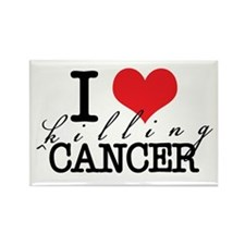 i heart killing cancer Rectangle Magnet
