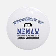Property of Memaw Ornament (Round)