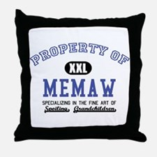 Property of Memaw Throw Pillow
