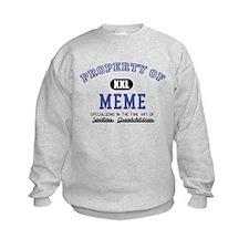 Property of Meme Sweatshirt
