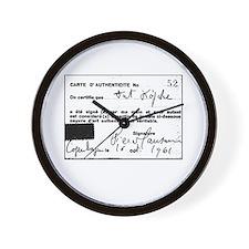 Manzoni Certificate Wall Clock