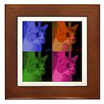 Rainbow Cat Framed Tile