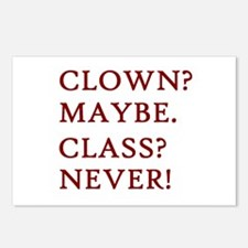 Clown? 2 Postcards (Package of 8)