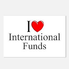 """I Love (Heart) International Funds"" Postcards (Pa"