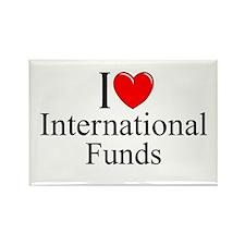 """I Love (Heart) International Funds"" Rectangle Mag"
