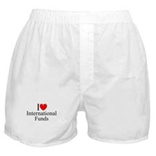 """I Love (Heart) International Funds"" Boxer Shorts"