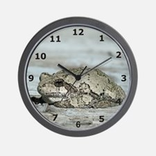 Gray Treefrog Wall Clock