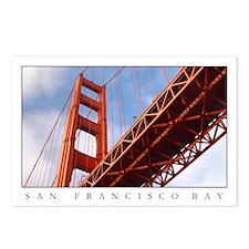 SF Golden Gate Bridge Postcards (Package of 8)