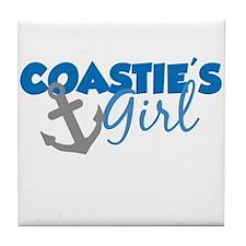 Coastie's Girl (Blue) Tile Coaster